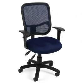 OFM Modern Mesh Ergonomic Task Arm Chair Black 130-AA3-A05
