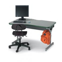 Classroom Computer Desk, 1 Person Station