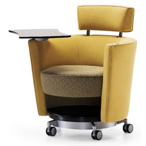 haworth hello seating mobile lounge chair with tablet