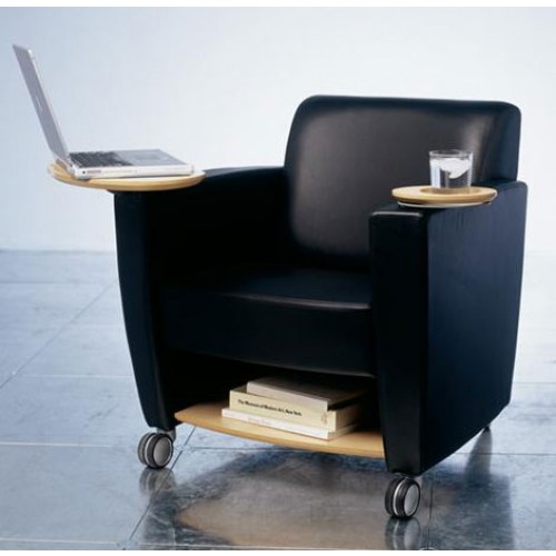 haworth to do series lounge mobile chair with shelf