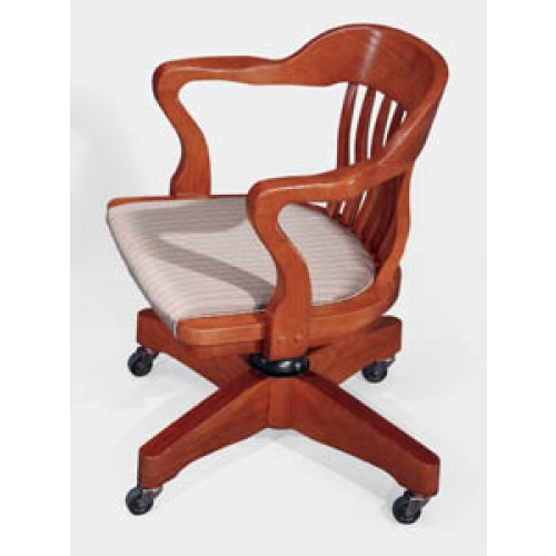 Jasper Community Boston Traditional Wood Office School Swivel Chair. Double  Click On Image For Full View.