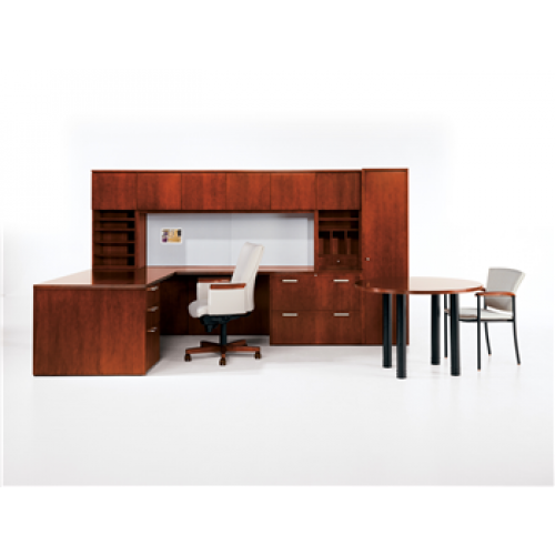 Jofco Reflections L Shaped Executive Office Desk With Conference Table - L shaped conference table