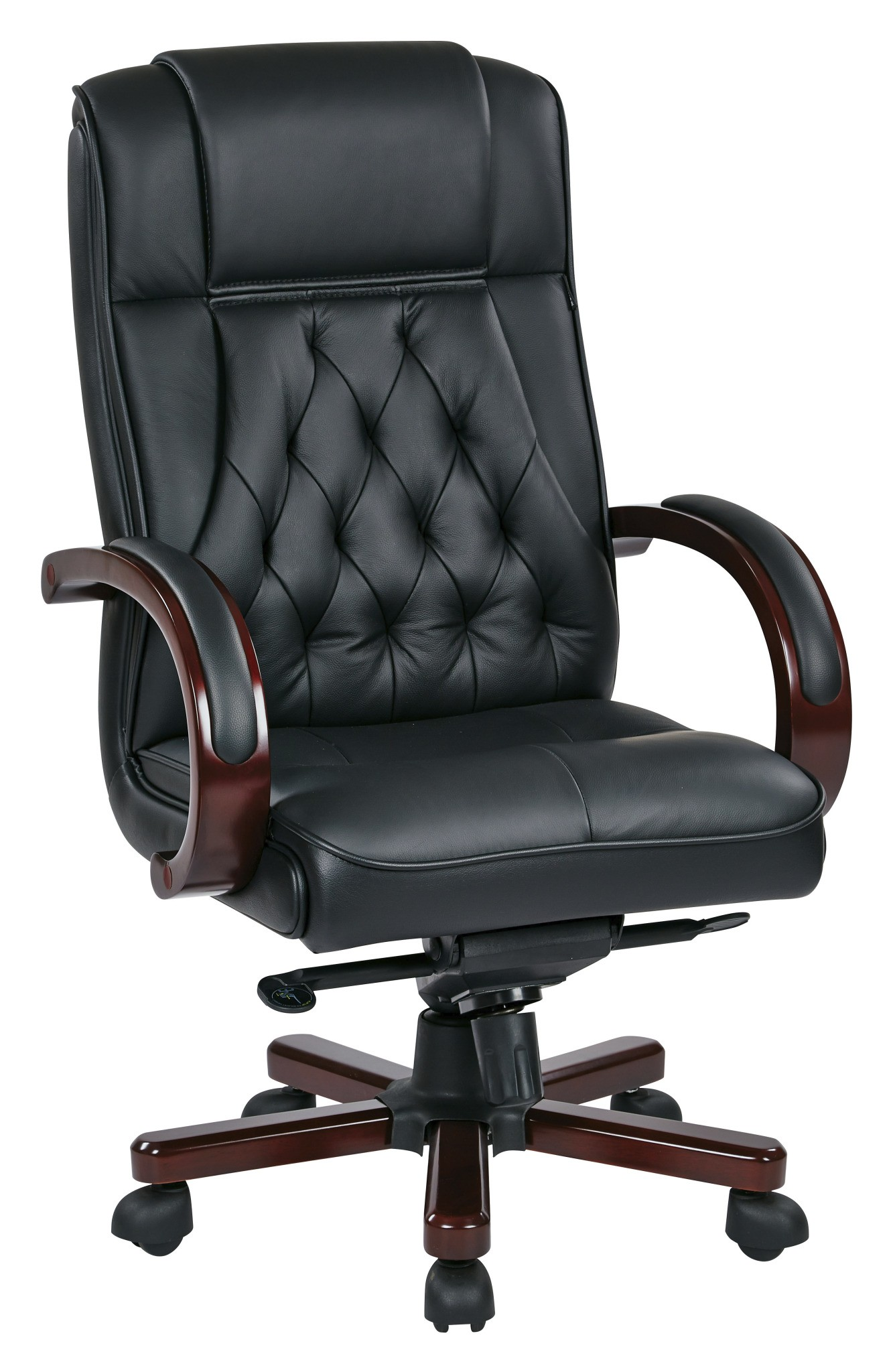 Office Star TWN300L-3 Leather Executive Chair With Royal
